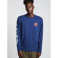 Element FLORIAN blue depths pánské tričko s dlouhým rukávem - M