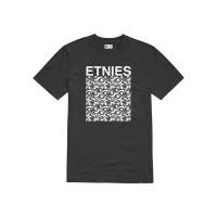Etnies Retina black pánské tričko s krátkým rukávem - XL