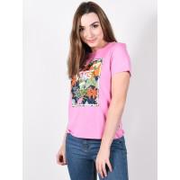Vans BOXLET FUCHSIA PINK dámské tričko s krátkým rukávem - M
