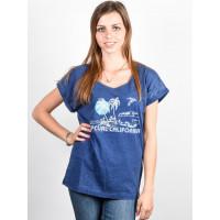Rip Curl ENCANTO blue depths dámské tričko s krátkým rukávem - S