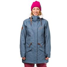 Horsefeathers MICA light denim zimní bunda dámská - L