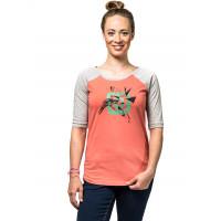 Horsefeathers CELIA CORAL dámské tričko s krátkým rukávem - S