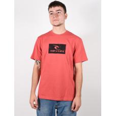 Rip Curl HALLMARK washed red pánské tričko s krátkým rukávem - M