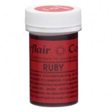 Sugarflair Gelová barva potravinářská Rubínová (ruby) 25g