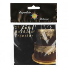Sugarfair Transfer Zlatý plát Jedlé zlato 24 karátů 8x8 cm