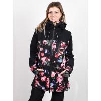 Roxy STATED PARKA TRUE BLACK BLOOMING PARTY zimní bunda dámská - S