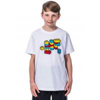 Horsefeathers BRICKS white dětské tričko s krátkým rukávem - XL