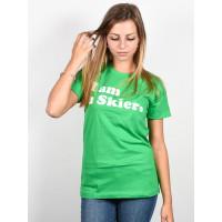 Line Skier Forever green dámské tričko s krátkým rukávem - L