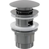 Sifonová vpusť 5/4 click/clack SNÍŽENÁ chrom kov velká zátka (ALCAPLAST Plast) A390 (A390)