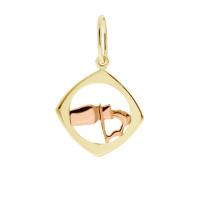 Zlato Zlatý přívěsek znamení zvěrokruhu 3220067 Znamení zvěrokruhu: Vodnář