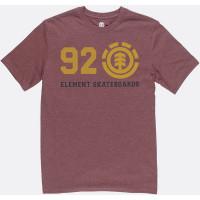Element ORIGINAL OXBLOOD HEATHER pánské tričko s krátkým rukávem - M