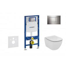 Geberit Sada pro závěsné WC + klozet a sedátko softclose Ideal Standard Tesi - sada s tlačítkem Sigma30, lesklý/matný/lesklý chrom 111.300.00.5 NE6