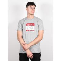Vehicle STAIN HEATHER GREY pánské tričko s krátkým rukávem - M