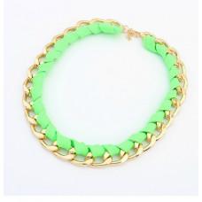 Náhrdelník Tkanička- 4 barvy Barva: Zelený