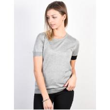 Volcom Simply Stone HEATHER GREY dámské tričko s krátkým rukávem - S