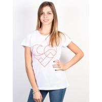 Femi Stories FAN WHT dámské tričko s krátkým rukávem - L