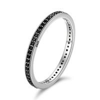OLIVIE Stříbrný prsten ČERNÝ ZIRKON 4709 Velikost prstenů: 9 (EU: 59 - 61)