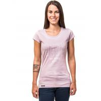 Horsefeathers SHAPES LILAC dámské tričko s krátkým rukávem - S