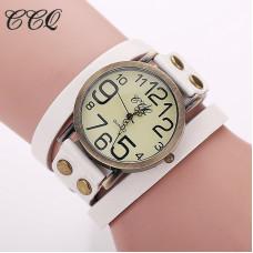 Vintage unisex hodinky kožené - 3 barvy Barva: Bílá