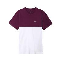 Vans COLORBLOCK WHITE/PORT ROYALE pánské tričko s krátkým rukávem - M