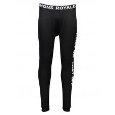 MONS ROYALE DOUBLE BARREL LONG J black pánské thermo prádlo - XL