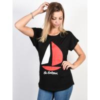 Ezekiel Bateau Dolman black dámské tričko s krátkým rukávem - S