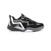 Dvs DEVIOUS black/charcoal/white/suede pánské letní boty - 42,5EUR