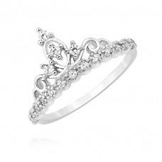 OLIVIE Stříbrný prstýnek KORUNKA 3672 Velikost prstenů: 5 (EU: 47 - 50)