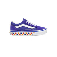Vans Old Skool (Tri Checkerboard) royal blue/ dětské letní boty - 38,5EUR