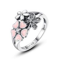 OLIVIE Stříbrný prsten TŘEŠŇOVÝ KVĚT 3450 Velikost prstenů: 8 (EU: 57 - 58)