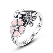 OLIVIE Stříbrný prsten TŘEŠŇOVÝ KVĚT 3450 Velikost prstenů: 7 (EU: 54 - 56)