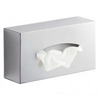 SAPHO - Zásobník na papírové kapesníky závěsný, 23,3x7x12,3 cm, leštěný nerez (2308)