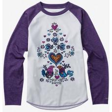 Burton YOUTH TECH WHITE VIOLET dětské thermo prádlo - XL