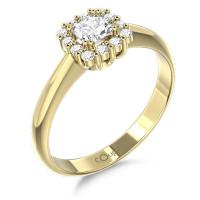 Couple Zlatý dámský prsten Clara 6610294 Velikost prstenu: 50