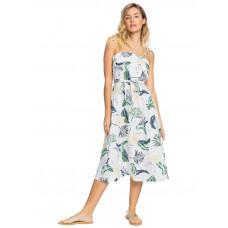 Roxy NOWHERE TO HIDE SNOW WHITE LARGE PRASLIN luxusní plesové šaty dlouhé - S