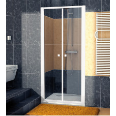 SanSwiss ECP2 0700 04 07 Dvoukřídlé dveře 70 cm, bílá/sklo