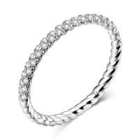 OLIVIE Stříbrný prsten se zirkony 4124 Velikost prstenů: 8 (EU: 57 - 58)