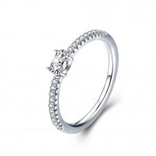 OLIVIE Zásnubní stříbrný prsten 3789 Velikost prstenů: 7 (EU: 54 - 56)