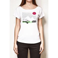 Vehicle JOURNEY white dámské tričko s krátkým rukávem - L