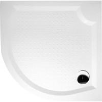 GELCO - VIVA80 sprchová vanička z litého mramoru, čtvrtkruh, 80x80x4cm, R550 (GV558)