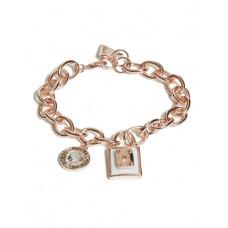 GUESS náramek Rose Gold-Tone Chain Link Charm Bracelet vel. P2770698832A