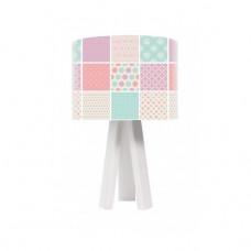 Dětská stolní lampa Pastel power + bílý vnitřek + bílé nohy