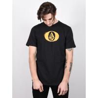 Volcom Elypse black pánské tričko s krátkým rukávem - XL