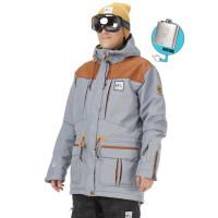 Picture UNDER NATURAL JEANS/BROWN LEA zimní bunda pánská - XL