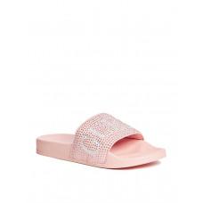 GUESS pantofle Sass Rhinestone Logo Slide Sandals pink vel. 42
