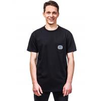 Horsefeathers CASK black pánské tričko s krátkým rukávem - M