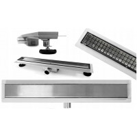 REA - Lineární odtokový žlab + sifon + nožičky + rošt Neo Pure 800 N (REA-G0093)