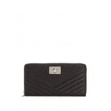 GUESS peněženka Halley Logo-Embossed Zip-Around Wallet černá vel.