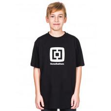 Horsefeathers FAIR KIDS black dětské tričko s krátkým rukávem - M