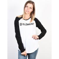 Element ELEMENT LOGO white dámské tričko s dlouhým rukávem - L